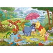 Clementoni Puzzle 26735 - Puzzle de suelo maxi (60 piezas), diseño de Winnie the Pooh bajo la lluvia