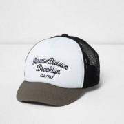 River Island Boys White contrast print mesh trucker cap