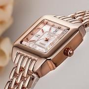 Mulheres Bracele Relógio Quartzo Japonês / Lega Banda Casual Prata / Ouro Rose marca