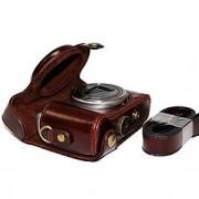 couro dengpin câmera capa protetora bolsa caso com alça de ombro para Sony DSC-hx50v HX60 HX50 HX30 HX10 LCJ-HN