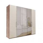 Atlanta - Mörk rustik ek Garderob 250 cm, 236 cm, Utan kornisch / ram