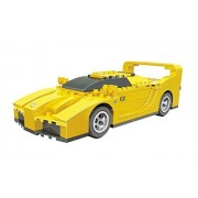 Ausini Racing Sleek Yellow Supper Fast Car Building Bricks 170pc Educational Blocks Set Compatible to Lego Parts - Great Gift for Children by Ausini