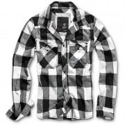Brandit Check Camiseta Negro/Blanco M