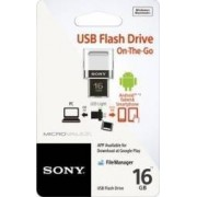 USB Flash Drive Sony On-The-Go 16GB USB 2.0 White