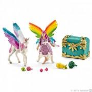 Elf curcubeu lis cu manz unicorn pegasus schleich41440