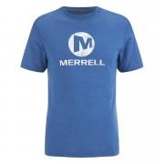 Merrell Men's Vintage Stacked Logo T-Shirt - Tahoe Heather Blue - M