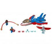 LEGO Capitanul America si urmarirea avionului cu reactie (76076)