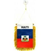 Fanion Haïti 15x10cm - Mini Drapeau Haïtien 10 X 15 Cm Spécial Voiture - Bannière - Az Flag