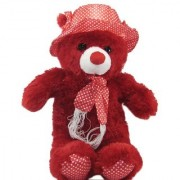 Tickles Red Cap Teddy Stuffed Soft Plush Toy Teddy Bear 36 cm T496