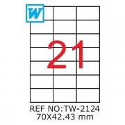 Etichete A4 , 70 x 42,43mm , Set 100 buc