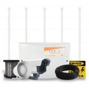KIT 65 - Kit Cerca Elétrica para 25 Mts de Muro com Power Hastes - Não necessita de Isoladores