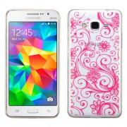 Funda Protector TPU Samsung Galaxy Grand Prime Transparente / Flores Rosas