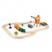 Hape Crane and Cargo Train Set E3722