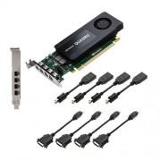 PNY NVIDIA QUADRO K1200 Carte Graphique Professionnelle 4 Go GDDR5 PCI-Express Low Profile 4K 4 x DP/DVI (VCQK1200DVI-PB)