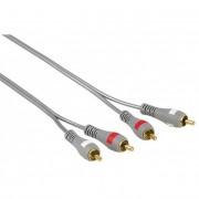Cablu audio 2RCA - 2RCA HAMA, 3 m