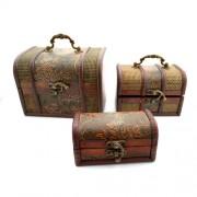 Set cutii de bijuterii - cufar cu piele ecologica