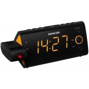 Ébresztőórás rádió idővetítéssel, hőmérő és naptár SRC 330 OR