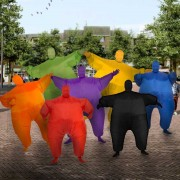 Chubby suits - rood