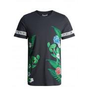 Jack & Jones Botanical Tee Ss Crew Neck Asphalt T-shirt Herr