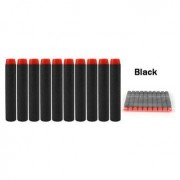 10PCS Refill Bullets Dart For Nerf N-strike Elite Rampage Retaliator Series Blasters Refill Clip 7.2x1.3cm (BLACK)