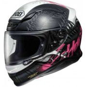 Shoei NXR Seduction Casco de moto Negro/Blanco/Rosa
