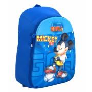 Ghiozdan, clasele 1-4, 1 fermoar, albastru, 3D, MICKEY MOUSE