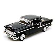 "Motormax GOTZMM73185BK 1:18 Scale Black ""1955 Chevrolet Bel Air Hard Top"" Die Cast Model Car"