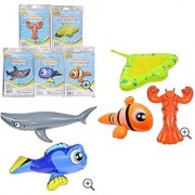 Lot 5 inflatable Pool Toys Floats Fish Shark Nemo Clown Fish String Ray Lobster Dory Pool Fun Water Toys