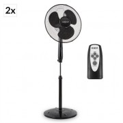oneConcept Black Blizzard RC 2G Pedestal Fan Set 50 W 41 cm Remote Control
