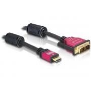 Cable HDMI A macho -> DVI (18+1) macho 5m