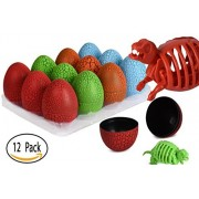 12 Dino Eggs With 3D Dinosaur Puzzle - Educational Toys Dinosaurs Party Favors Gift Bag For Boys And Girls