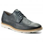 Обувки CLARKS - Gambeson Style 261259337 Navy Leather