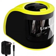 Laneco Handheld Electric Pencil Sharpener, Adapters or Battery Operated, Heavy Duty, Including Replacement Blades, Great for Classroom, Office, School, Kids, Teachers, Artists and Adults
