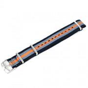 cinturino nato straps nero grigio e arancio ansa 20 mm