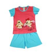 Fifinka - dívčí pyžamo 1-2 roky světle červená