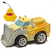 Kid Galaxy PBS Kids Toy RC Bulldozer. Toddler Remote Control Construction Truck for Preschool Kids Age 2, 3, 4 & Up, Yellow. Juguetes Excavadora Camion De Construccion Remoto Controle Vehicle, Orange