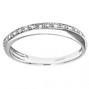 Bague - PR09832W-P - Anillo de mujer de oro blanco (9k) con 7 diamantes (talla: 16.5)