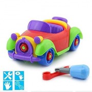 Elloapic Take A Part Toys removable toy Amazing Detachable Play wecker Car Combination Disassembly Toy screwdriver & wrench Toy Pull Along Vehicle Car Screw Building Toy