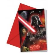 Star Wars party meghívó (6 db-os)