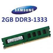Samsung originale 2 GB 240 pin DDR3 - 1333 (1333MHz, PC3 - 10600, CL9) 128 Mx8 x 16 Single Side (m378b5773ch0 CH9) per DDR3 + schede madri i5, compatibile al 100% con 10666 Mhz, PC3 - 8500