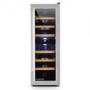 Klarstein Reserva Duett 12, 65 литра, 21 бутилки, хладилник за вино, 2 зони