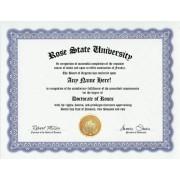 Rose Roses Degree: Custom Gag Diploma Doctorate Certificate (Funny Customized Joke Gift Novelty Item)