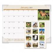 Horses Monthly Desk Pad, 22 X 17, 2017