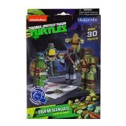 Team Ninjas Turtles Pack: 30 Piece Teenage Mutant Ninja Turtles Papercraft Playset