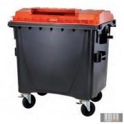 1100 L Műanyag Lapos fedelű Konténer - Szelektív TETRAPACK