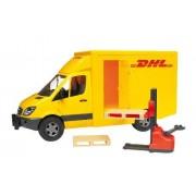 Bruder - 2534 - Véhicule Miniature - Camion de transport DHL avec transpalettre et accessoires