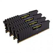 Corsair CMK16GX4M4A2666C15 Vengeance LPX Memoria per Desktop a Elevate Prestazioni da 16 GB (4x4 GB), DDR4, 2666 MHz, CL15, con Supporto XMP 2.0, Nero