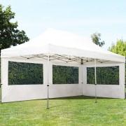 Profizelt24 Faltpavillon 3x6m weiß Klappzelt, Partyzelt, Gartenzelt, Faltzelt