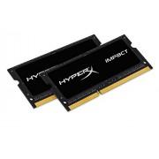 HyperX Impact HX321LS11IBK2/8 memoria 4GB 2133MHz DDR3L CL11 SODIMM (Kit di 2) 1.35V