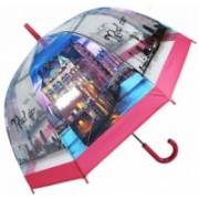 Deštník dámský vystřelovací Paříž city červený 9160-19 9160-19